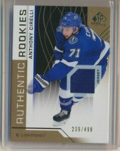 2018-19 SP Game Used Authentic Rookies Jersey 181 Anthony Cirelli /499 Tampa Bay