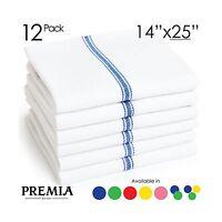 Premia Kitchen Economy Pack 24oz Cotton Dish Towels 14 X 25-inc... Free Shipping