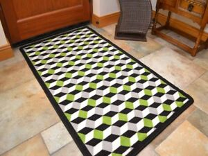 Green Grey Kitchen Rugs Small Large Washable Non Slip Back Long Hall Runners Mat Ebay