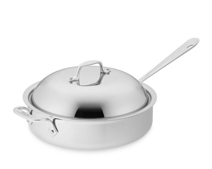 All-Clad 3-Qt Tri-Ply Stainless-Steel  Roaster Pan with Domed Lid,
