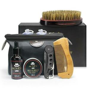Beard-Care-Kit-Tool-Set-Grooming-Balm-Oil-Mustache-Products-Supplies-Travel-Gift