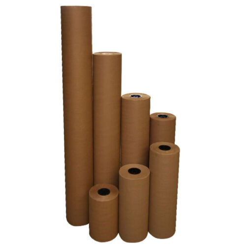 24 40 lbs 900/' Brown Kraft Paper Roll Shipping Wrapping Cushioning Void Fill
