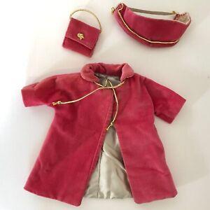Vintage Miss Revlon ?? Fashion Doll Pink Velour Coat Hat Purse