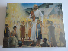 Jesus Blesses the Children {550 Piece} 1993 Gary Smith 18X24 Inch Book of Mormon