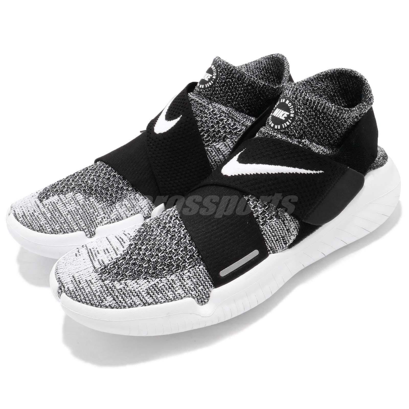 RN Motion FK 2018 Nike Free Flyknit Negro blancoo Men Running Run Zapatos 942840-001