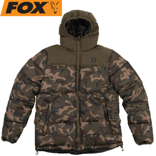 Winterjacke Angeljacke Fox Camo//Khaki RS Jacket Kleidung Angelbekleidung