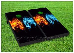 Set of 2 Cornhole Board LED Night Light Corn Hole Bean Bag Toss Game Light Set