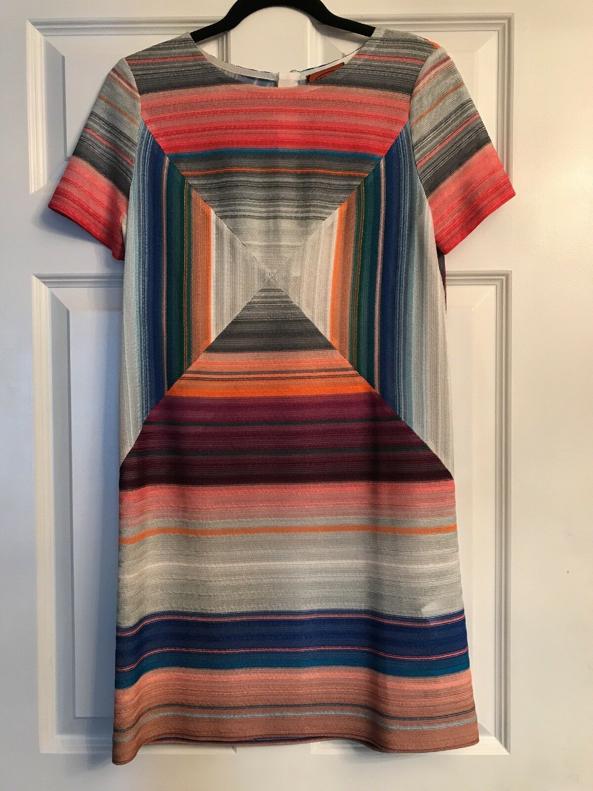 NWT Missoni Missoni Missoni Short Sleeve Abstract Knit Shift Dress SZ 40 a1ff6f