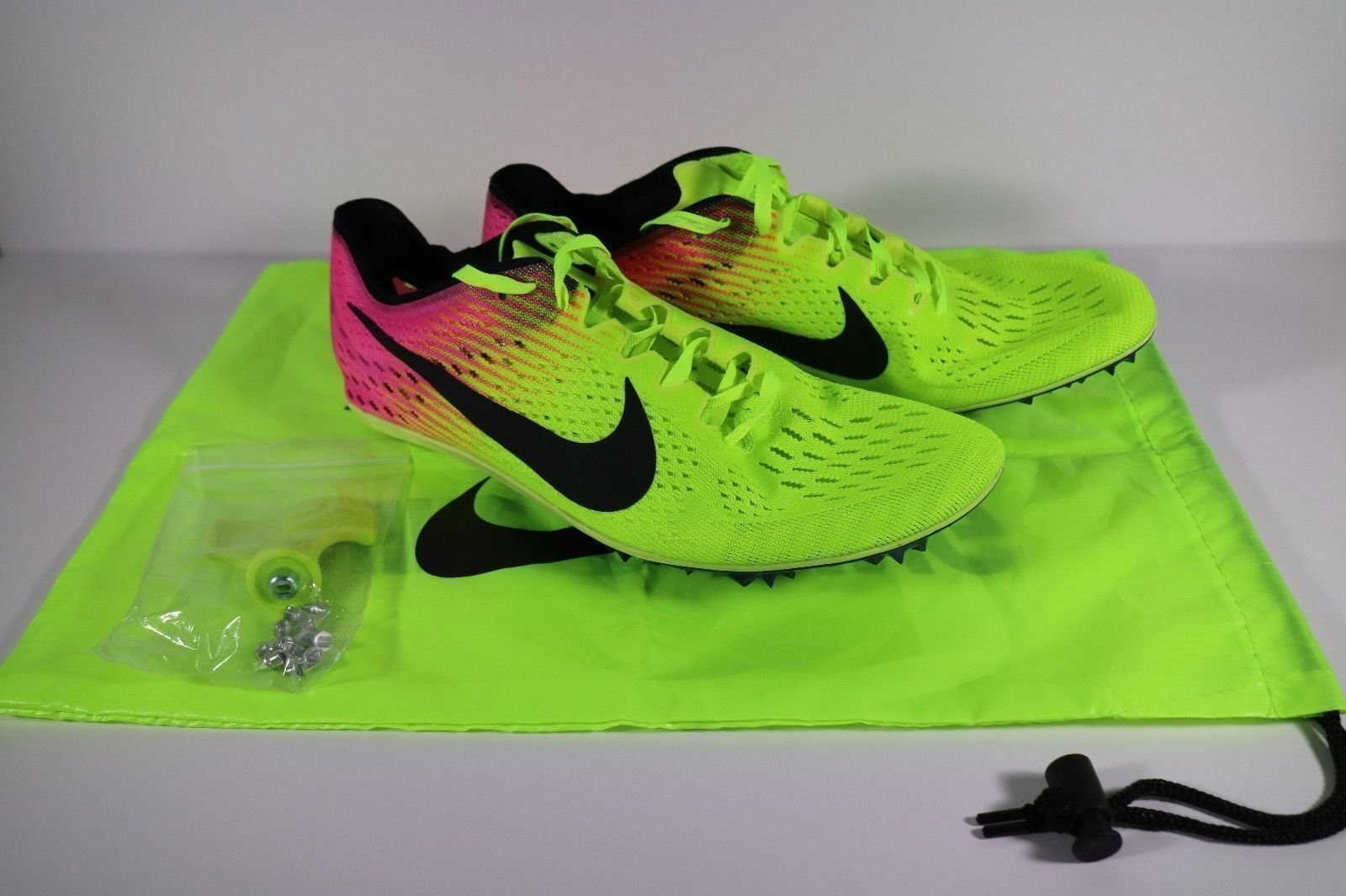 NIKE ZOOM VICTORY 3 RIO TRACK & FIELD SPIKES SIZE 4.5 VOLT PINK BLACK 835997-999