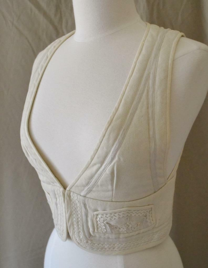 Isabel Marant Etoile Off White Quilted Cotton Vest Size 2