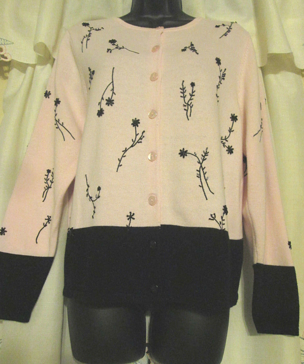 Dressbarn Button Up S Cottagecore Embroidered Sw… - image 5