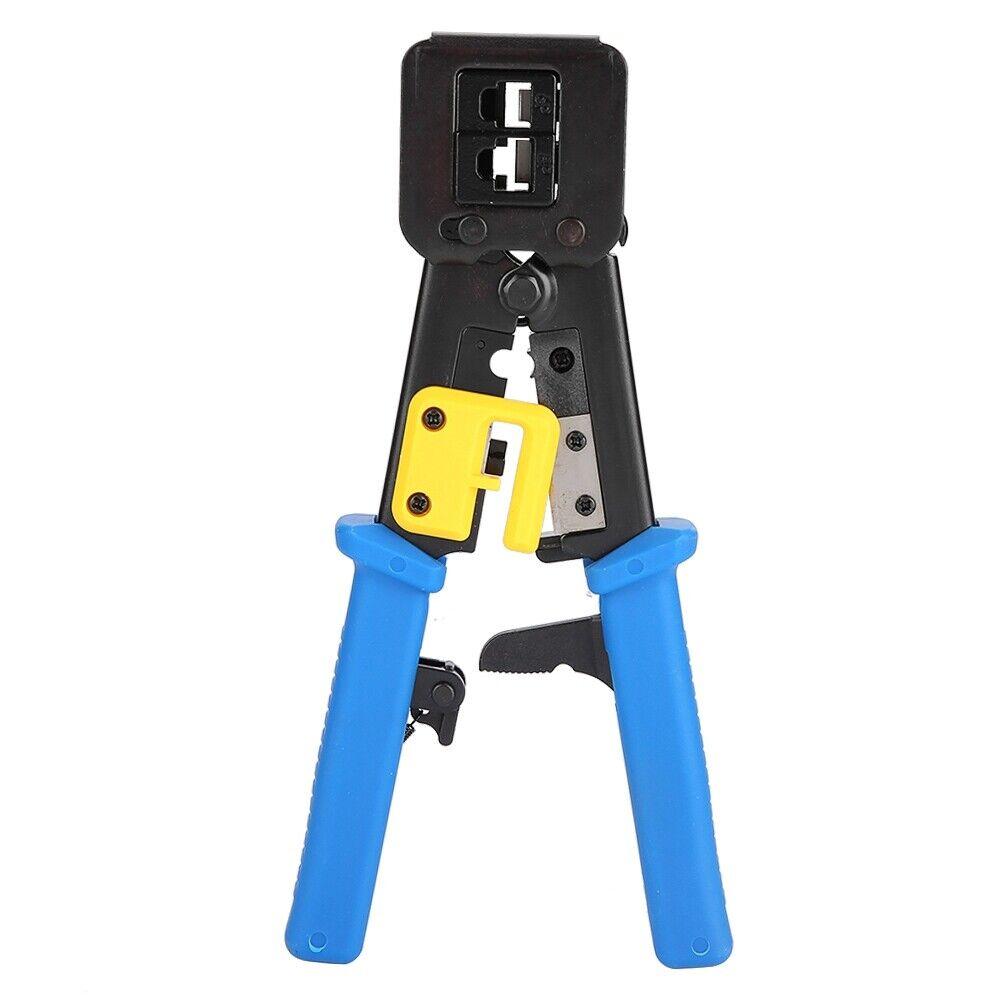 Network Plier RJ45 Crimper Ethernet Crimping EZ End Pass Through Kit RJ11/12
