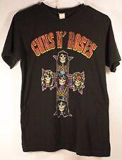 Vtg Guns N Roses T-Shirt Men Small Old Tag Skulls Cross Long Hair Band Faded