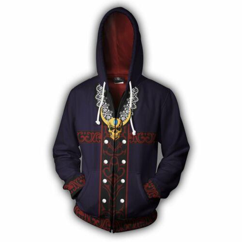 Men/'s Devil May Cry V 5 Cosplay Hoodie Sweatshirt Hooded Jacket Coat Sportswear
