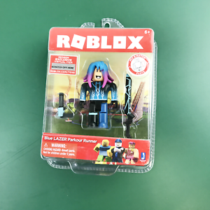 Parkour Roblox Icon Roblox Action Collection Blue Lazer Parkour Runner Figure Pack W Virtual Item Ebay