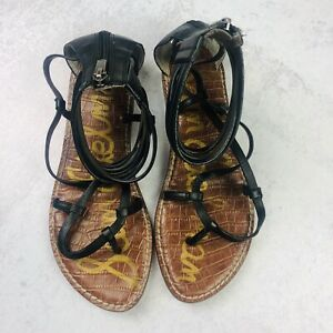 Sam-Edelman-Women-039-s-Sandals-Gladiator-Black-Summer-Zipper-Festival-Size-8