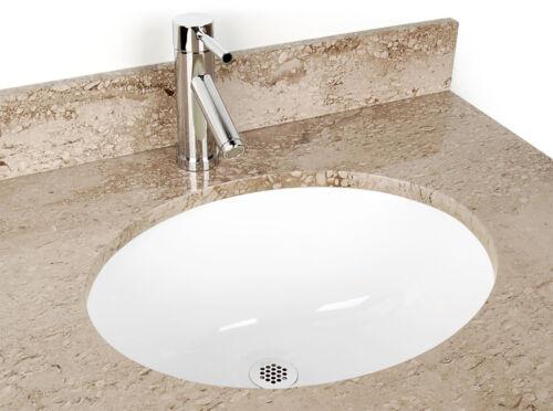 Oval Ceramic Sink 15 x 12in