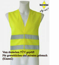1 Warnweste gelb NEU Pannen Unfallweste EN ISO20471:2013 Sicherheitsweste Auto
