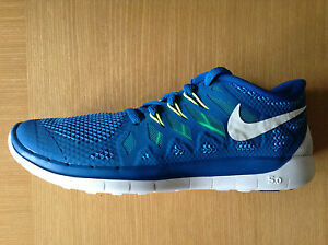 Details about Genuine Kid's Nike Free Run 5.0 (GS) Running Trainers BLUE UK 5 NEW