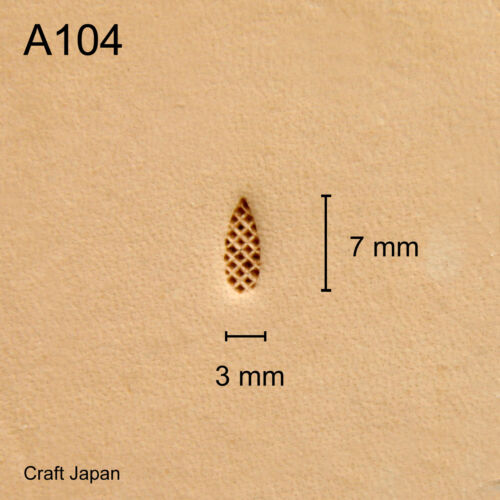 Punziereisen Leather Stamp Lederstempel Craft Japan A104 Punzierstempel