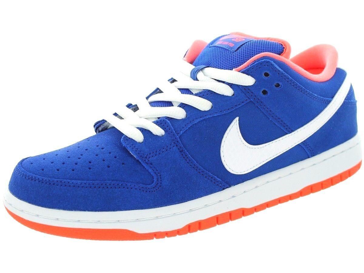 Nike DUNK LOW PRO SB Game Royal White Bright Mango Discounted (415) Men's Shoes