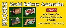 Proses 1/87: PLS-010 Reklametafeln / Outdoor Billboards Kit - USA (Lasercut)