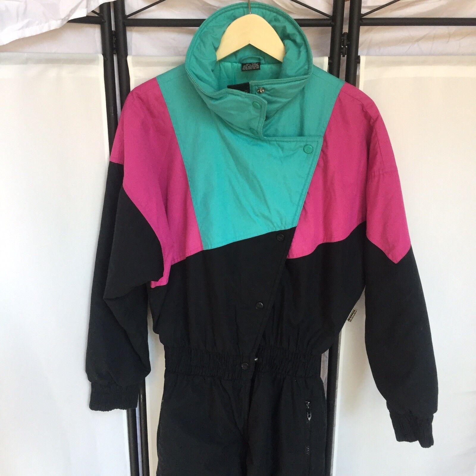 Edelweiss Vintage 80s 90s damen Größe 12 Snowsuit Ski Snowboard Super Cute