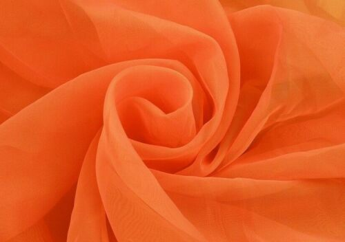 Orange Voile Fabric by the metre 150cm and 300cm Wedding Event Ceiling Drapes