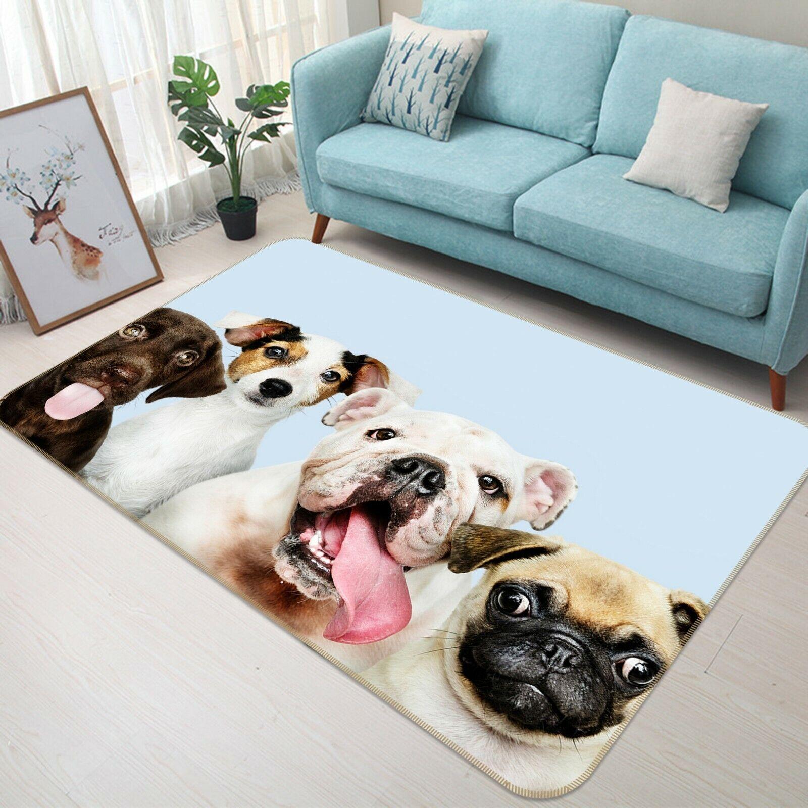 3D Carino Cane C026 Animale tappetino antiscivolo tappeto rossoondo elegante Tappeto Wendy
