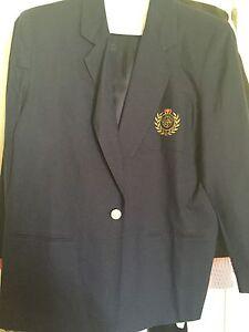 HERMAN-GEIST-Navy-Blue-Ramie-Cotton-Blend-Blazer-Jacket-Coat-Size-14-NWOT