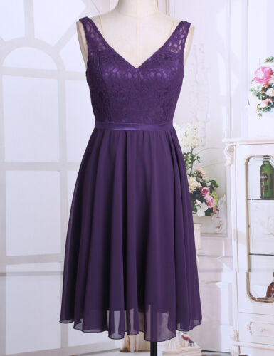 Women/'s Bridesmaid Party Short Lace Dress Evening Prom Ball Gown Formal Wedding