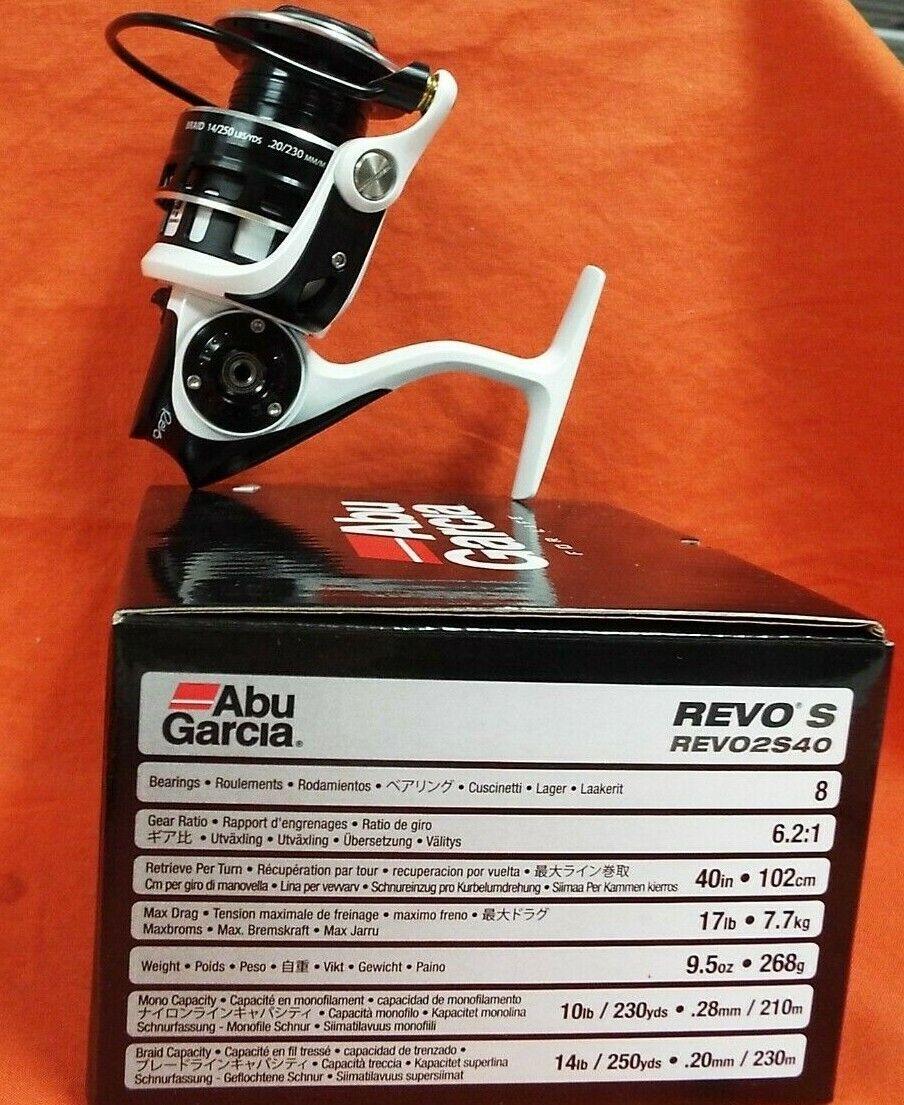 ABU GARCIA REVO2S40 SPINNING REEL 6 2 1 RATIO  REVO2S40 1365354