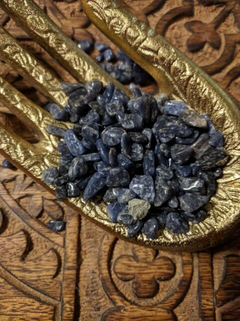 10 Natural Sodalite Chips Untreated Tumbled Stones For Crystal Grids