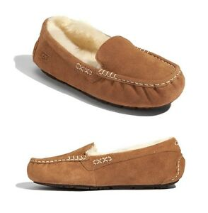 e9fddcee00f Women's Shoes UGG Ansley Moccasin Slippers 3312 Chestnut Black 5 6 7 ...