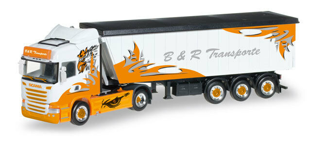 Herpa 306287 h0 CAMION SCANIA R HL stöffelliner-autoarticolati B & R trasporti ARROW Hunt