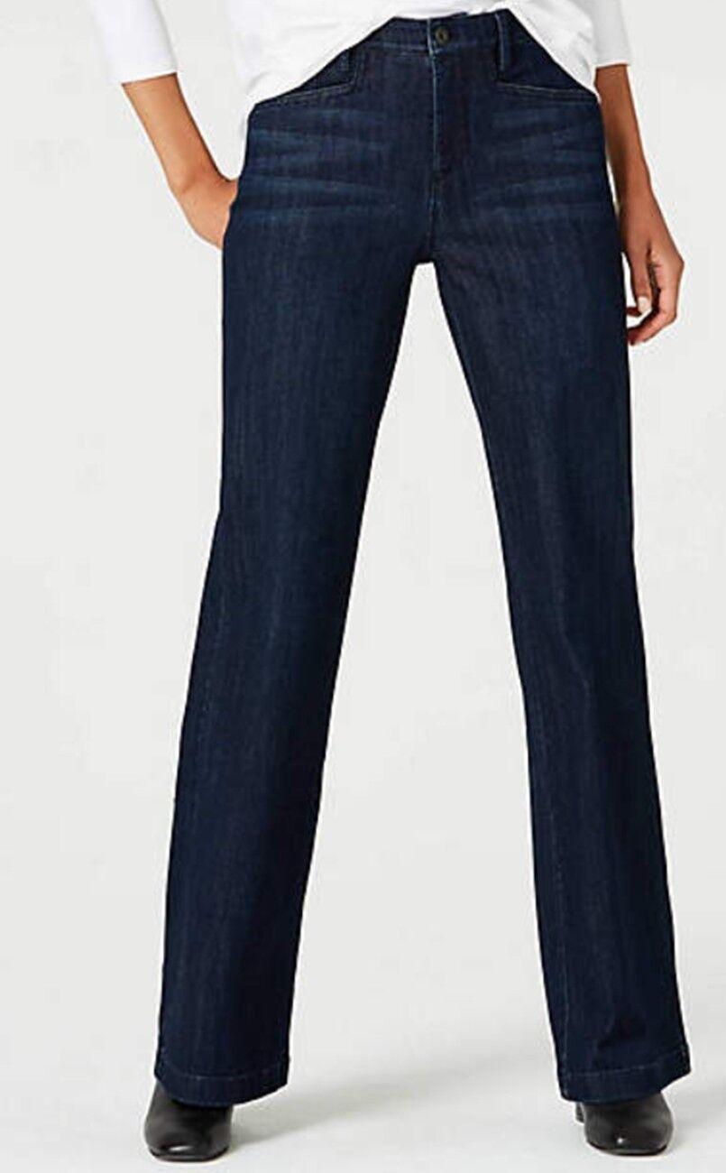 J JILL 16 NEW Smooth Fit Full Leg Stretch Jeans Indigo Night Wash  109