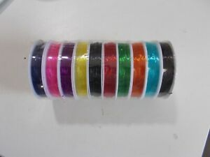 100m in total 10 colours x 10m rolls of 0.6mm Strong /& Stretchy elastic