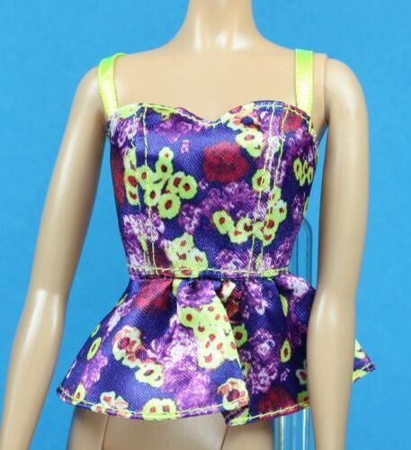 Multi Color Floral Halter Barbie Glam Style Fashionistas REGULAR PETITE