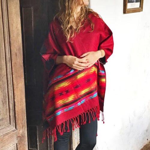 ALPACA WOOL PONCHO WRAP SHAWL BLANKET CAPE AZTEC ALL SEASONS BOHO ETHNIC FEST