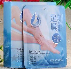 2-Pares-Exfoliante-Pies-Mascara-Peeling-Dead-Skin-Callos-seco-duro-Skin-Tratamiento