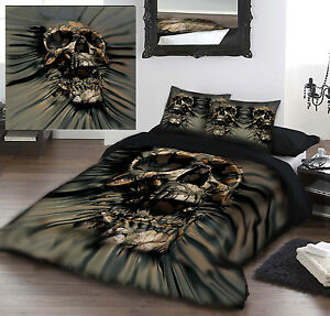 Skull Rip Thru Duvet Cover Set By David Penfound Uk Double
