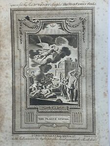 1770 The Plague Stayed I Chronicles Biblical Antique Copperplate Print