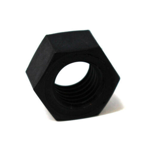 Métrica de nylon negro Hexágono Completo Tuercas de rosca gruesa-M3 M5 M6 M8 M10