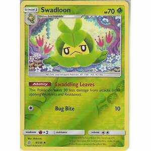 8-236-Swadloon-Uncommon-Reverse-Holo-Card-Pokemon-SM11-Unified-Minds-TCG