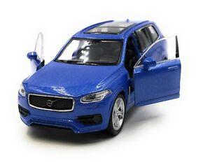 Modellino-Auto-Volvo-XC90-SUV-Blu-Auto-1-3-4-39-Licenza