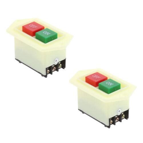 2x Push Button Switch Power Switch Bench Grinder Switch Start Switch