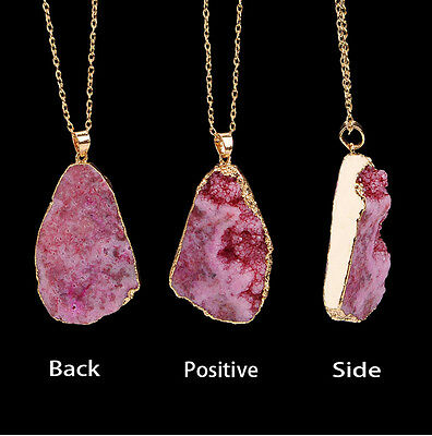 Natural Crystal Quartz Healing Point Chakra Bead Gemstone Necklace Pendant