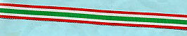 ITALY - MINI SILK RIBBON UNITED ITALY 1848-70  MEDAL  5 INCHES (13cm)