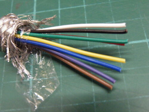 1m Length of 8 Core 7//0.2mm Screened Cable Grey Sheath od 6.4mm Model Railway et