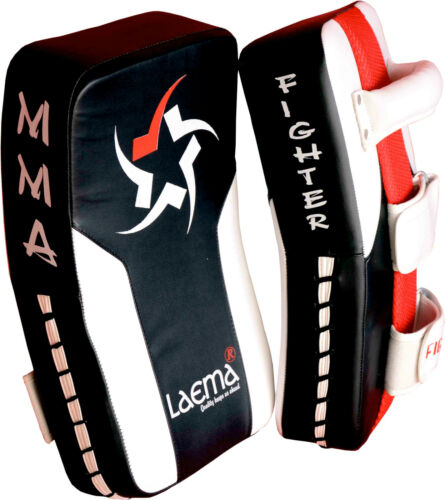 Pro Thai Kick Boxing Strike Curved Arm Pad Muay UFC MMA Focus Punch Shield PAIR